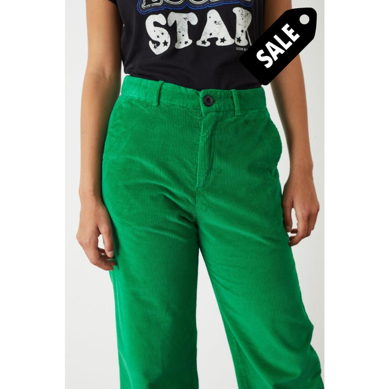 Phil Pants Velours - Green Pants