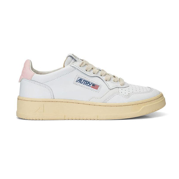 MEDALIST AULWLS20 - LEATHER SUEDE WHITE/PINK