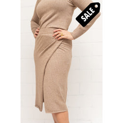 Randi Skirt - Light Brown Knitwear