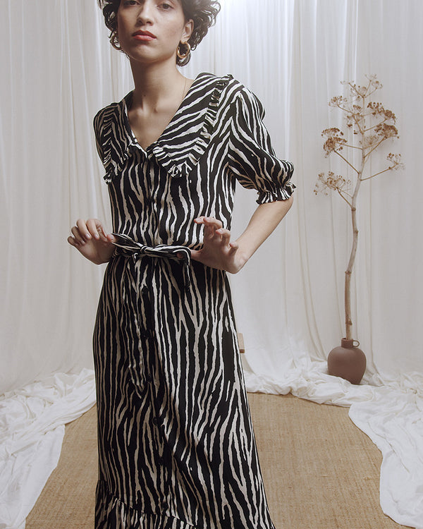 CHOUROUK DRESS - ZEBRA