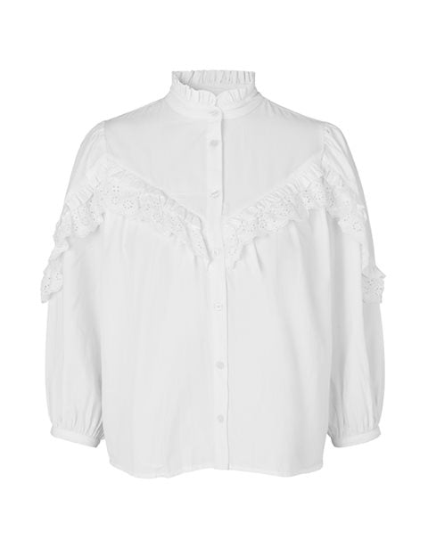 ROMANOVA REGAN SHIRT - WHITE