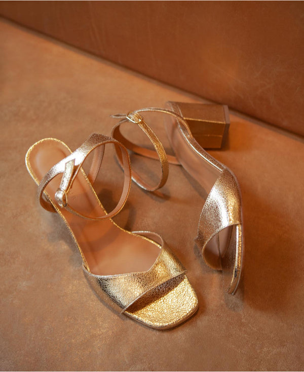 SANDALES N°333 - LEATHER GOLD