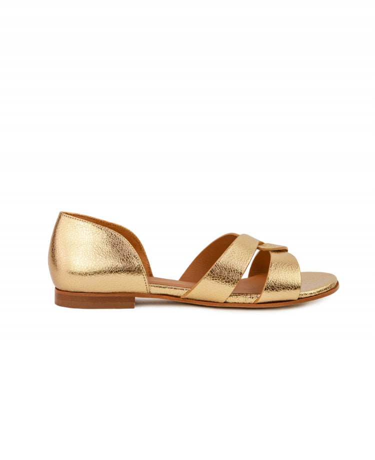 SANDALES N°35 - LEATHER GOLD
