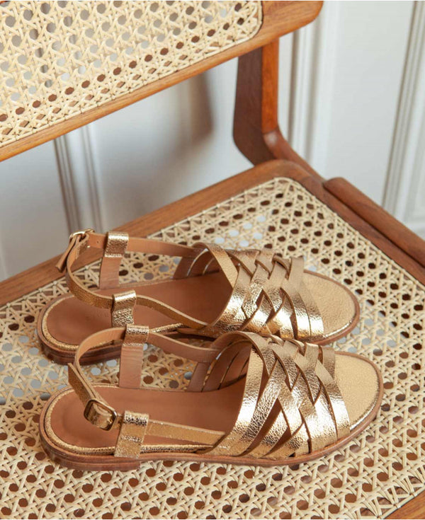 SANDALS  N°63 - LEATHER GOLD