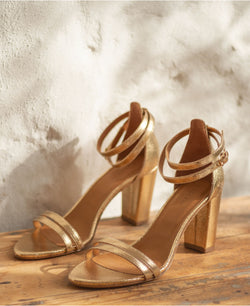 SANDALES N°853 - LEATHER GOLD