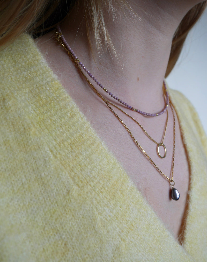 SHORTIE HALO NECKLACE - GOLD