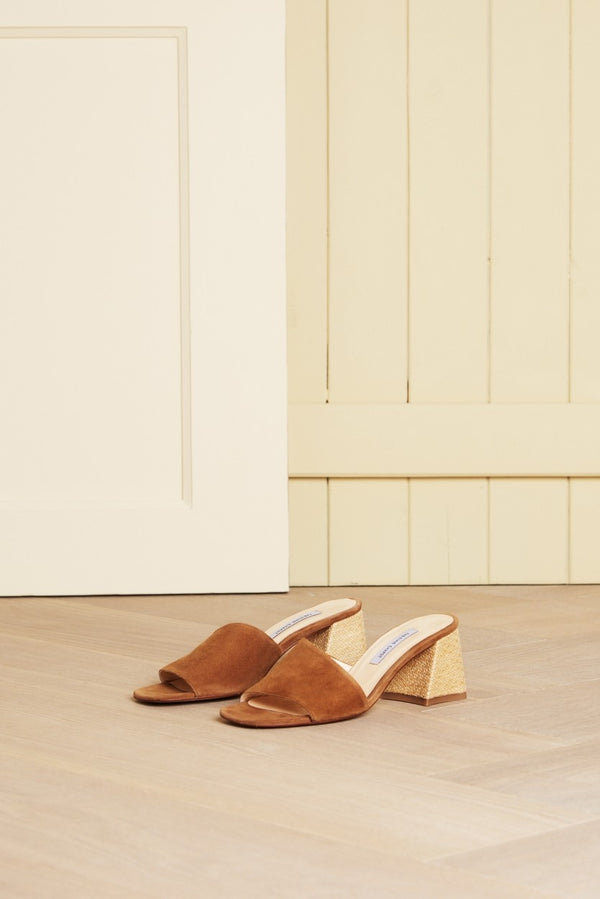 TED MULE - CAMEL SUEDE