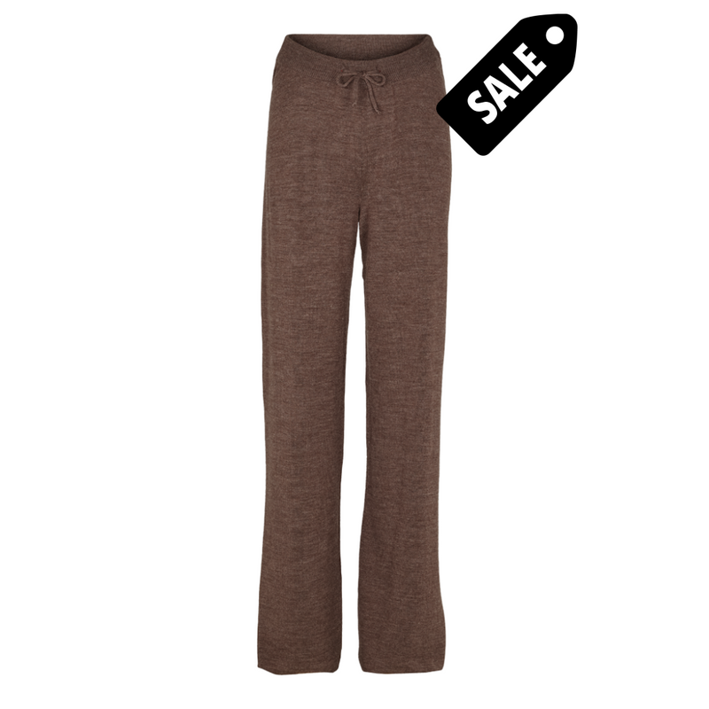 Vera Wide Pants - Brown Melange Xs Pant