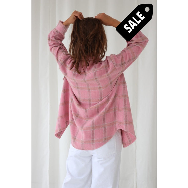 Vigga Shirt Jacket - Pink Checks