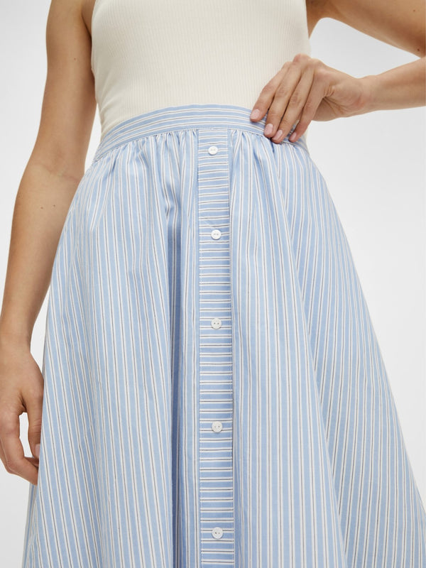 CASA HW MIDI SKIRT - BLUE STRIPES