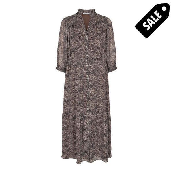 Zorro Dress - Mocca Xs