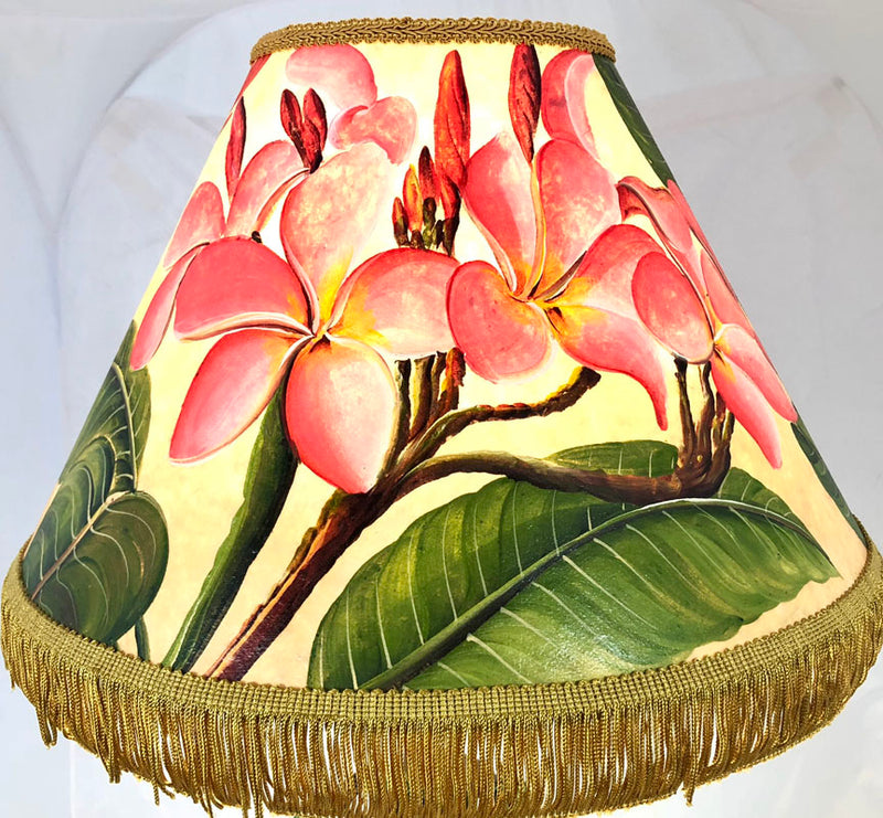 Pink Plumeria Shade - 16 INCH Medium