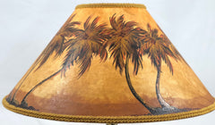 Two Tone Palm Forest 18 Inch Medium Lampshade