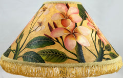 Plumeria Mix Color Light Finish 18 Inch Medium Lampshade