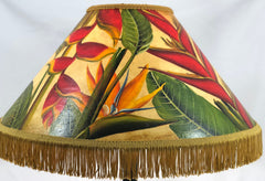 Bid of Paradise Rich Finish 18 Inch Medium Lampshade