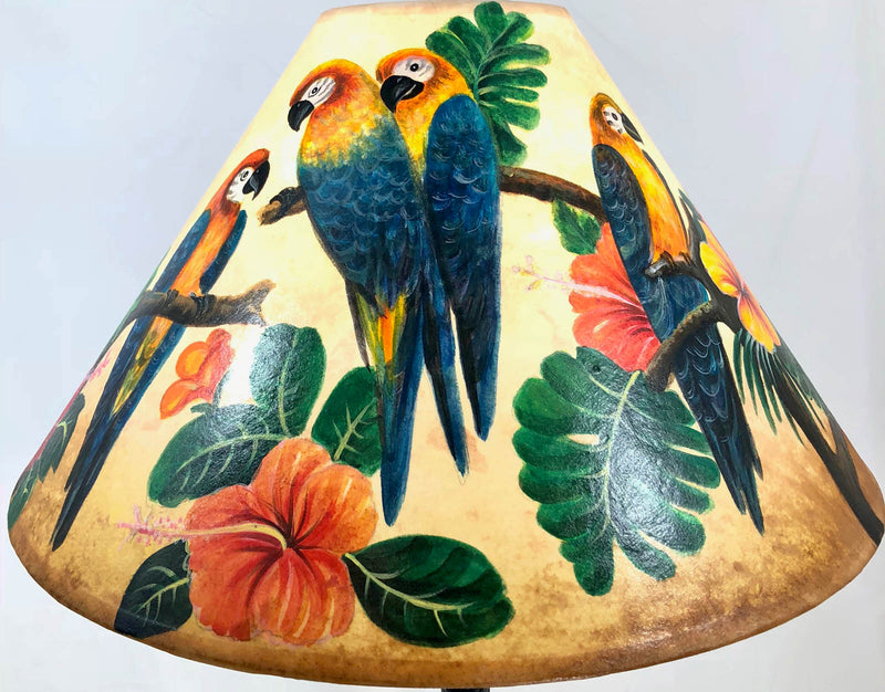 Tropical bird 18 Inch Tall Lampshade