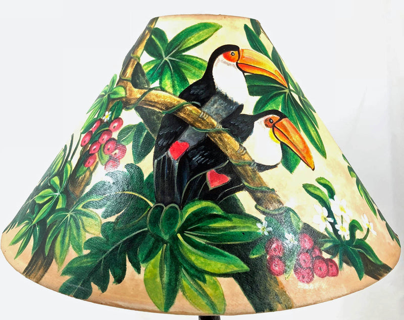 Tropical Bird in forest 18 Inch Tall Lampshade