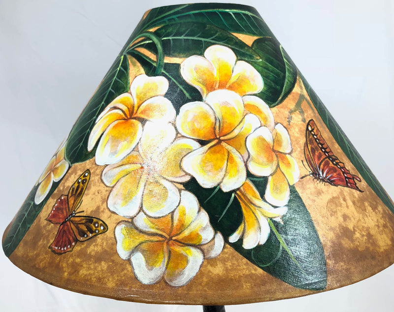 Golden Plumeria 18 Inch Tall Lampshade