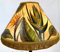Bird of Paradise 18 Inch Tall Lampshade