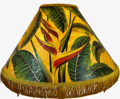 Heliconia Rich Golden  18 Inch Tall Lampshade