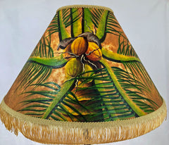 Deep Golden Coconut Head 18 Inch Tall Lampshade