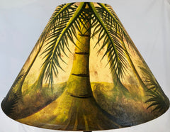 Palm Forest Light Finish  18 Inch Tall Lampshade