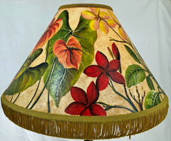 Plumeria & Anthurium 18 Inch Tall Lampshade