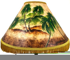 Golden Palm Forest 18 Inch Tall Lampshade