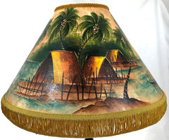 Old Time Hawaiian Village 18 Inch Tall Lampshade