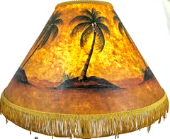 Glowing Palm 18 Inch Tall Lampshade