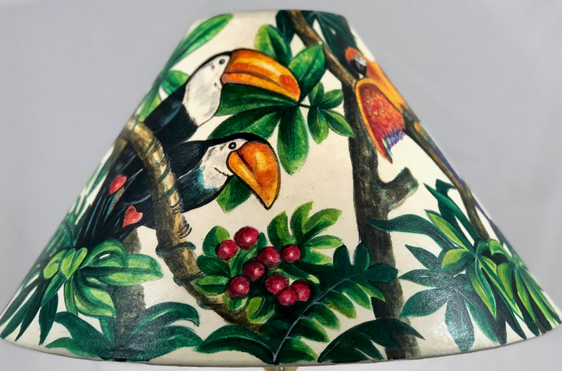 Tropical Bird Forest 18 Inch Tall Shade