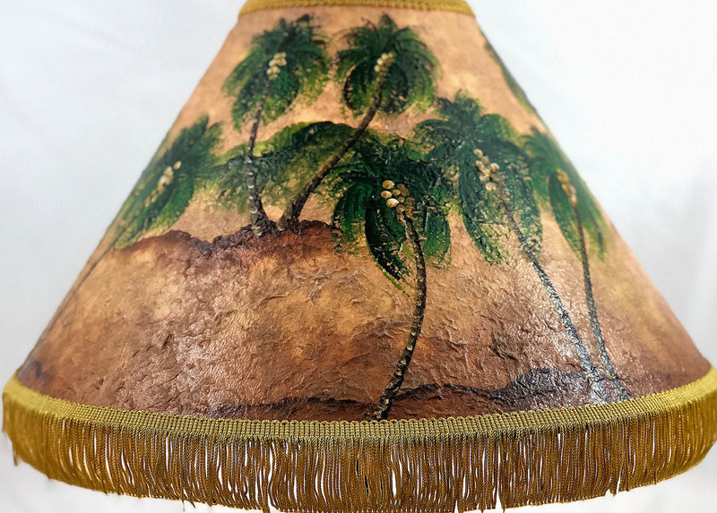 Golden Palm 3D 18 Inch Tall Lampshade
