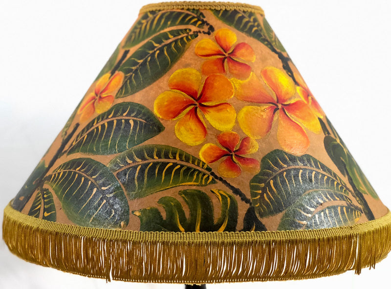 Orange Plumeria 18 Inch Tall Lampshade