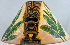 18 Inch Tall Lampshade - large Tiki Gods 18T-082
