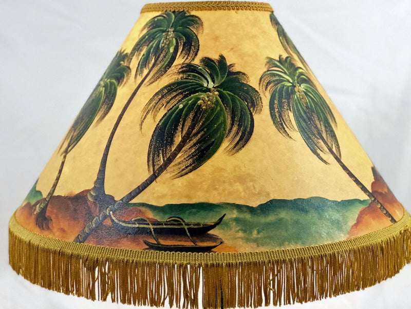 Outrigger On Beach 18 Inch Tall Lampshade