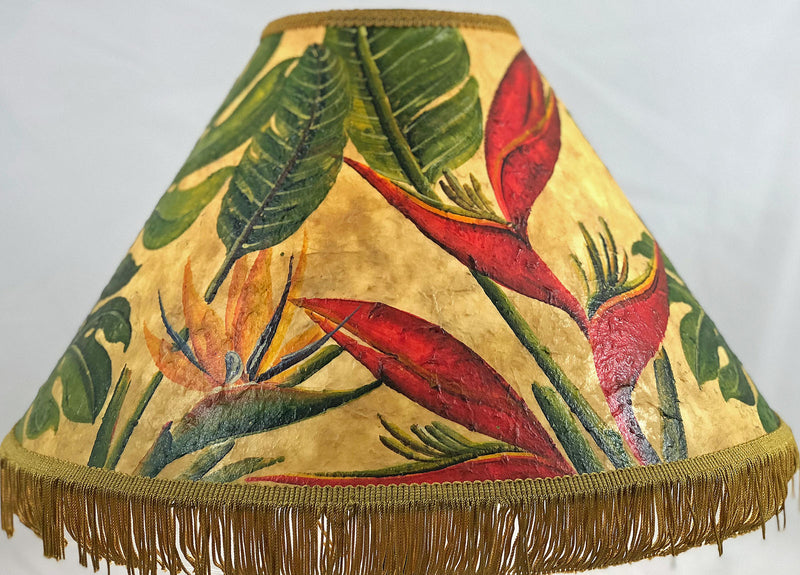 Bird of Paradise & Heliconia 18 Inch Tall Lampshade