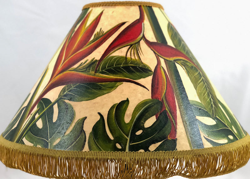Hawaiian Mix Floral 18 Inch Tall Lampshade