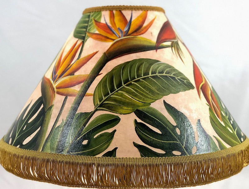 Bird of Paradise Garden 18 Inch Tall Lampshade