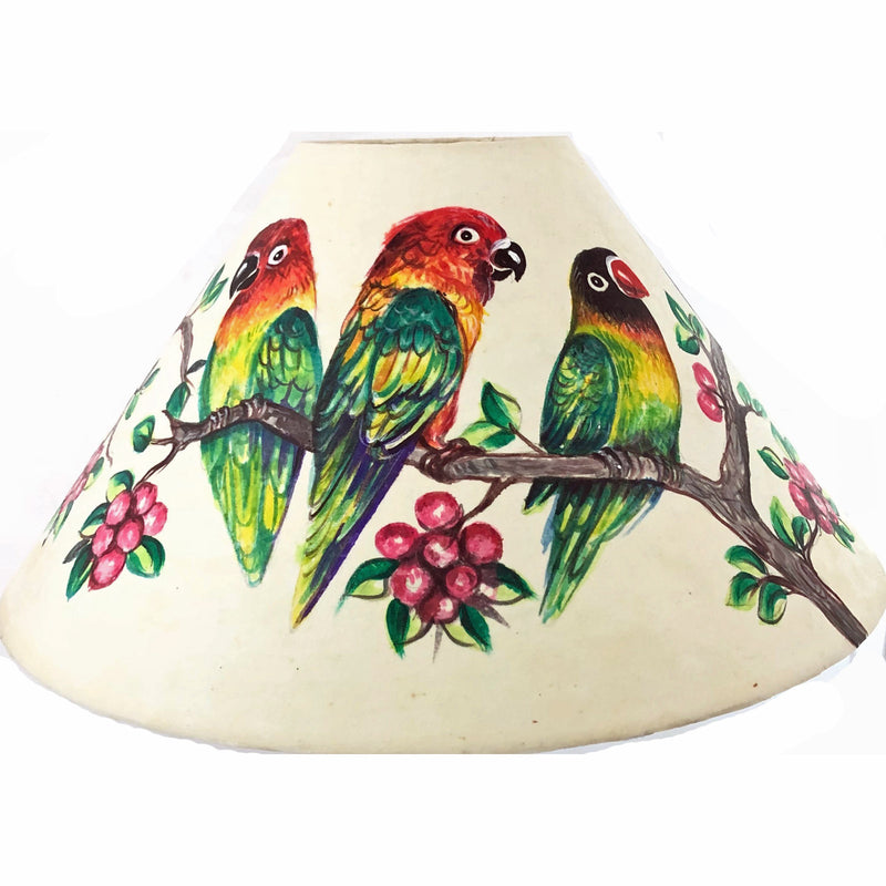 20 Inch Shade (SKU 20S-020 )TROPICAL BIRDS