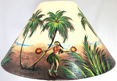 Hula Girl on Beach 20 Inch Shade (5.5 x 12 x 20)
