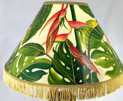 Monstera & Heliconia 20 Inch Shade (6 x 12 x 20)