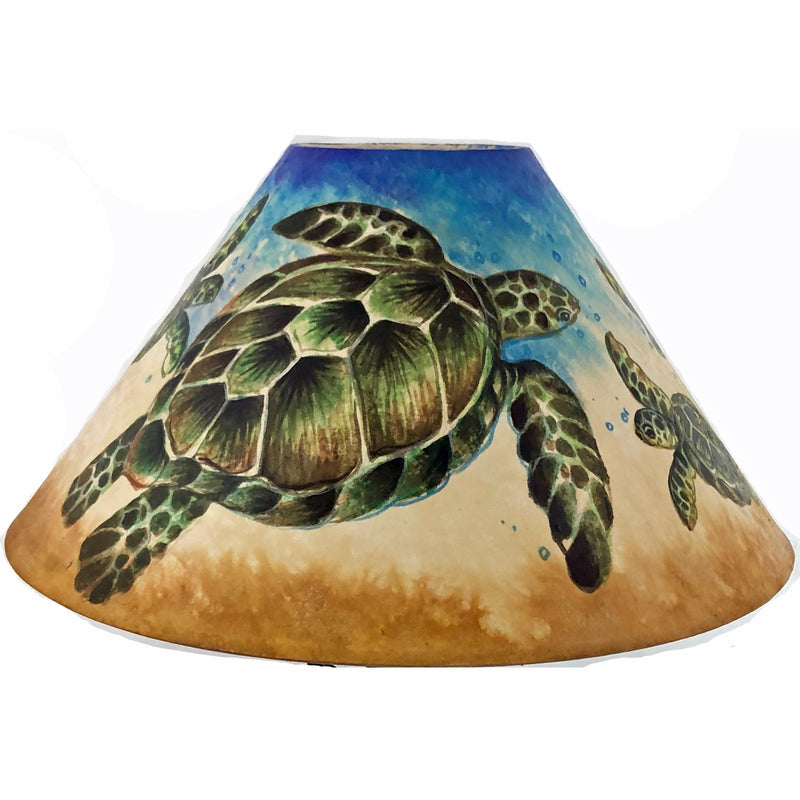 20 Inch Shade (SKU 20S-026) Floating Turtles