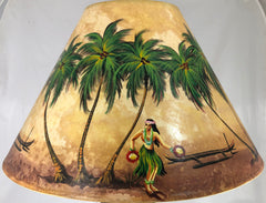 Hula Girl & outrigger  Shade - 22 Inch (8x14x22)