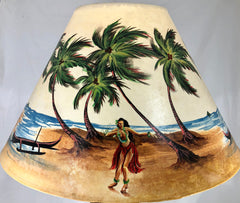 Dancing Hula Girl Shade - 22 Inch (8x14x22)