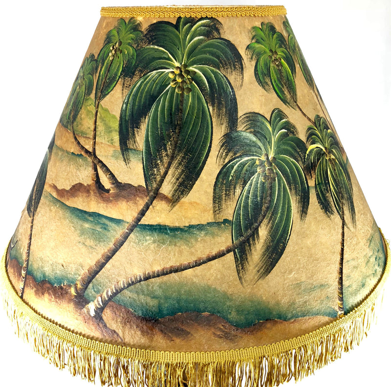 Ocean Swaying Palms Shade - 22 Inch Large Head (9x14x22)