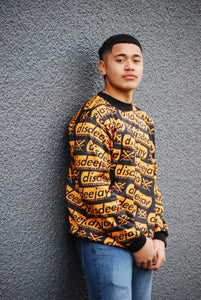 All Over Gold Crewneck