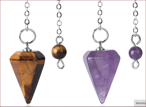i Pendulum Natural Stone Amulet Healing Crystal Pendant Meditation  Hexagonal Pendulums for Men Women