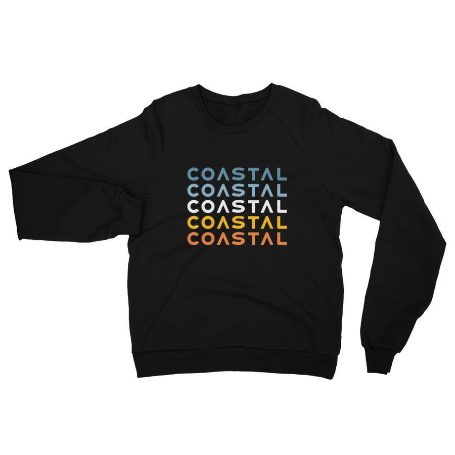 Multi Color Coastal California Fleece Raglan Sweatshirt