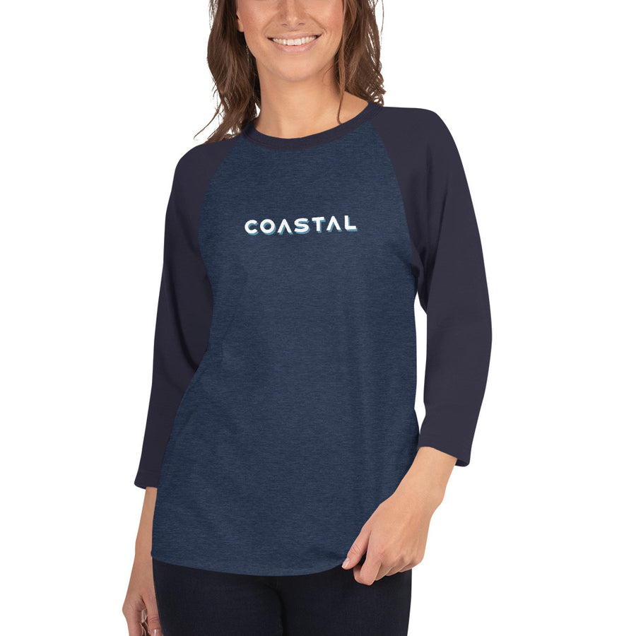 Coastal Type 3/4 sleeve raglan shirt