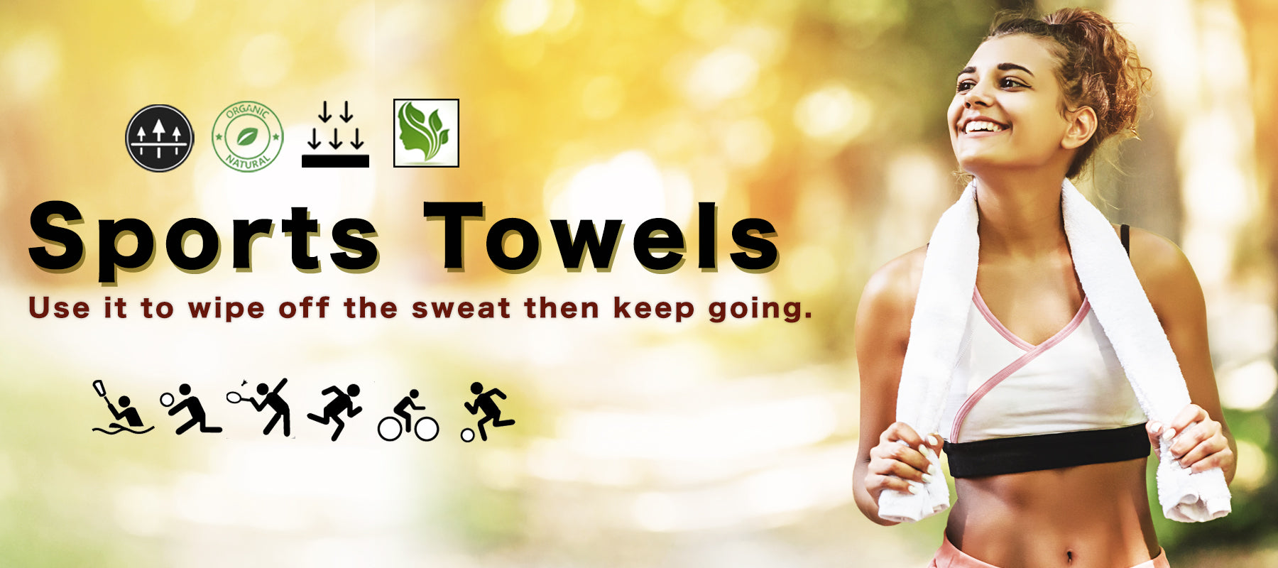 sports sweat towels banner with sport vectors ice cool technology towels